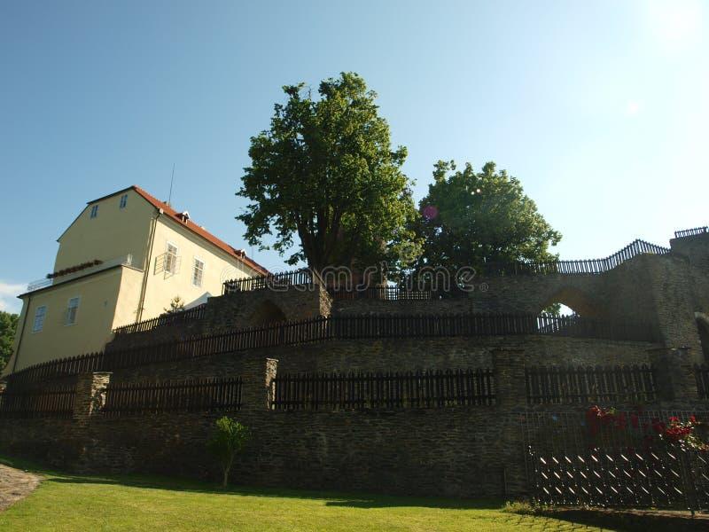 Svojanov castle, ghotic garden stock photography