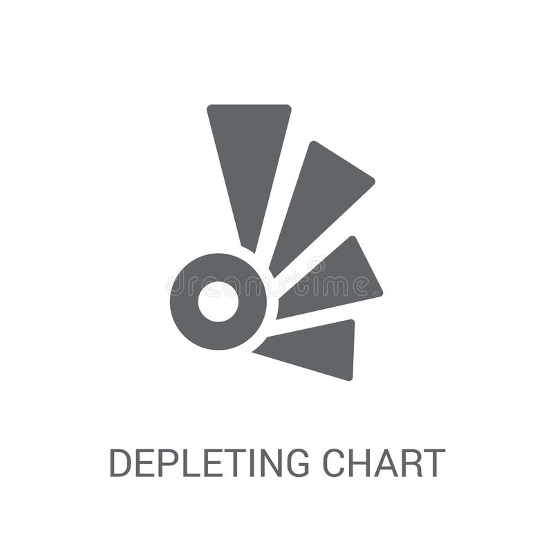 Svuotamento dell'icona del grafico Concetto di svuotamento d'avanguardia di logo del grafico sul whi illustrazione di stock