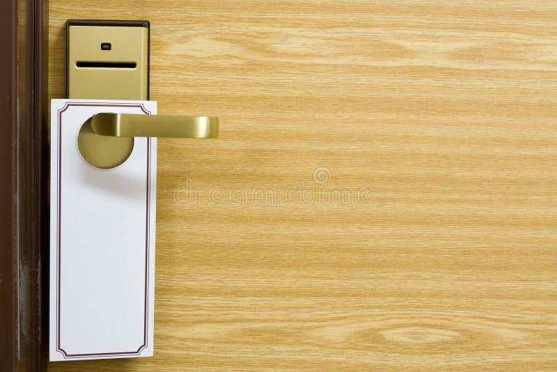Svuoti il contrassegno sulla maniglia di portello fotografie stock