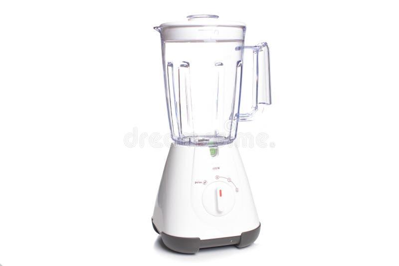 Svuoti il miscelatore elettrico su fondo bianco, concetto della cucina immagine stock libera da diritti