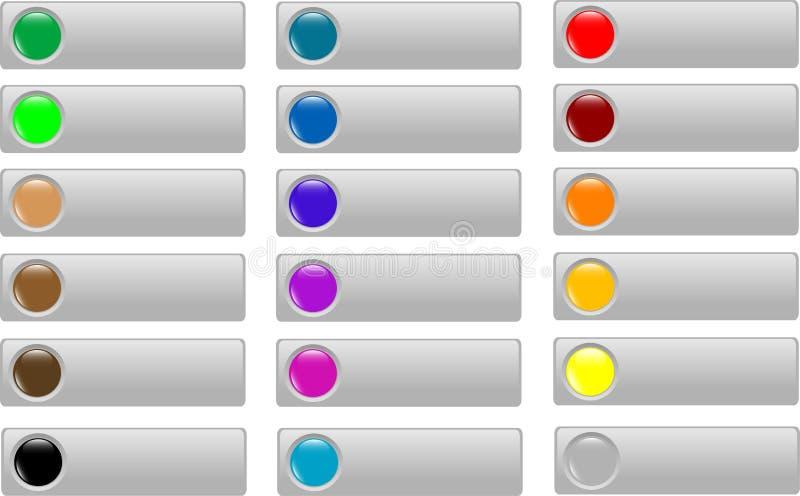 Svuoti l'accumulazione colorata del tasto di Web   illustrazione di stock
