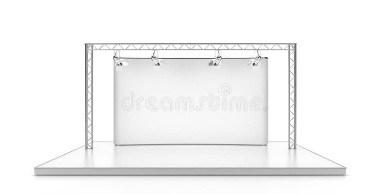 Svuoti la fase con i lightspots illustrazione vettoriale