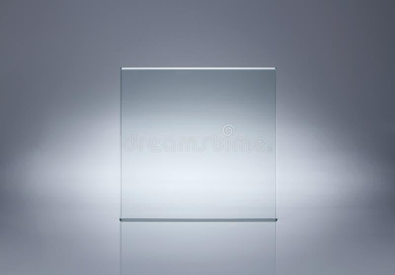 Svuoti la lastra di vetro fotografia stock