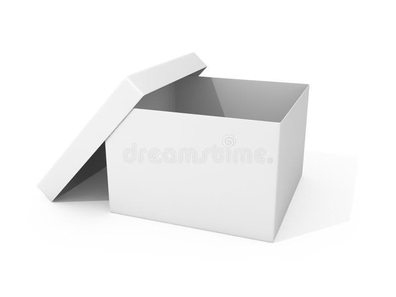 Svuoti la scatola di cartone aperta illustrazione di stock