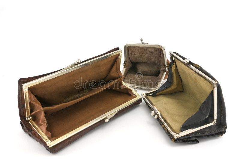 Svuoti le borse. immagine stock