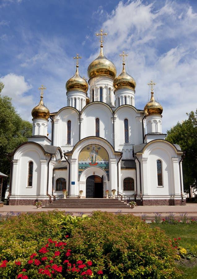 Svyato-Nikolskynonnenkloster. Pereslavl-Zalessky stockbild