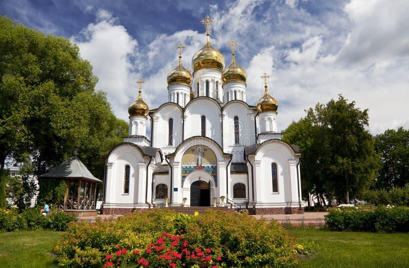 Svyato-Nikolskynonnenkloster Sankt- Nikolauskathedrale Pereslavl-Zalessky stockfotografie