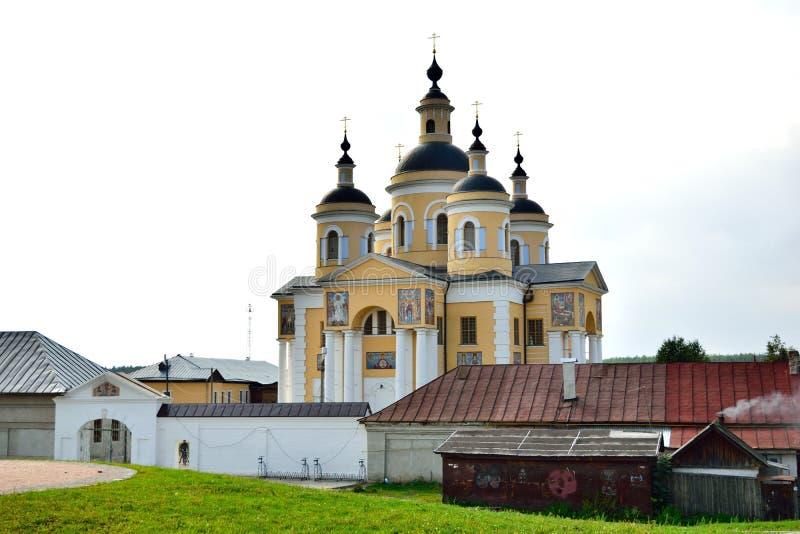 Svyato-uspenskii Vishenskii修道院 图库摄影