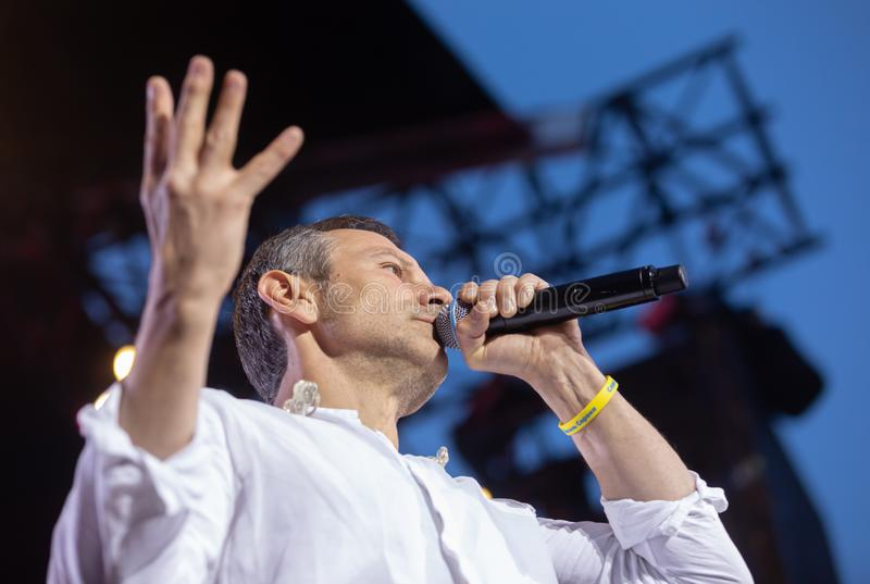 Svyatoslav Vakarchuk ukraiński rockowy piosenkarz zdjęcia stock