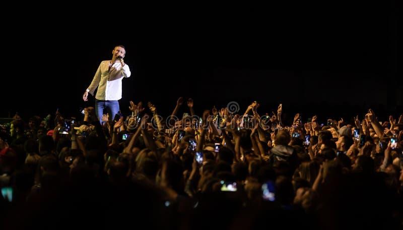 Svyatoslav Vakarchuk ukraiński rockowy piosenkarz obraz stock