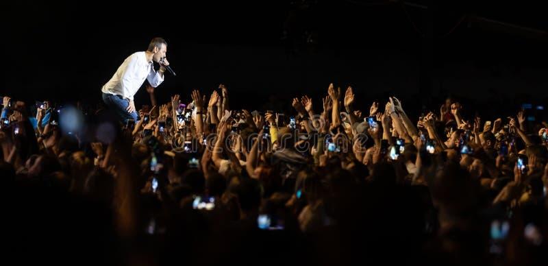 Svyatoslav Vakarchuk ukraiński rockowy piosenkarz fotografia stock