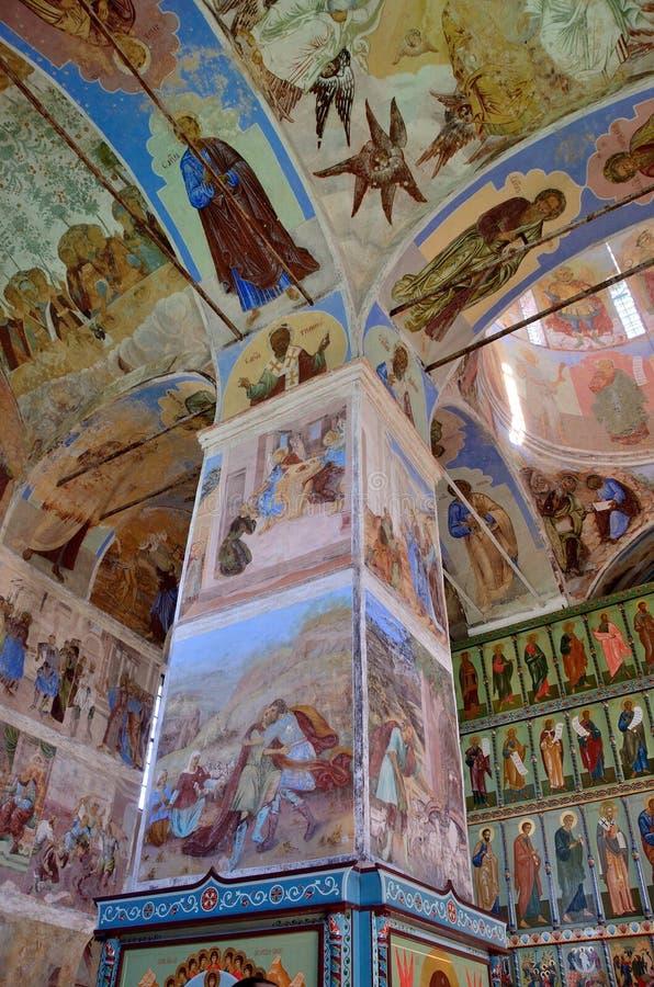Download Svyatotroitsky亚历山大Svirsky修道院,三位一体的壁画的片段 图库摄影片 - 图片 包括有 内部, 寺庙: 62528502