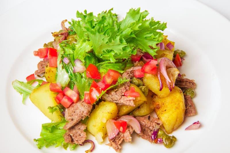 Swabian σαλάτα πατατών στοκ εικόνα με δικαίωμα ελεύθερης χρήσης