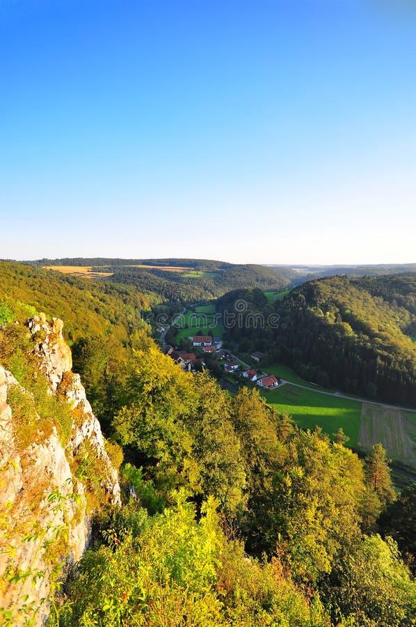 Swabian Alb - Big Lauter valley. The famous Big Lauter Valley, Swabian Alb, Baden-Wuerttemberg, Germany, shot in the Gundelfingen area royalty free stock photography