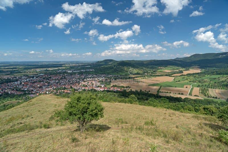 Swabian Juragebergte, Duitsland stock afbeeldingen
