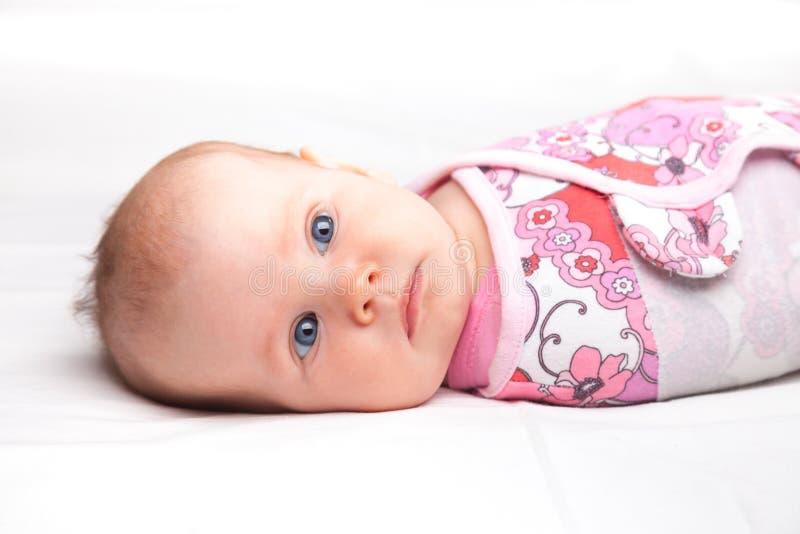 Swaddled niemowlak fotografia stock