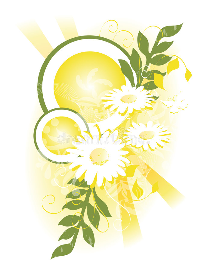 Swag amarillo de la margarita stock de ilustración