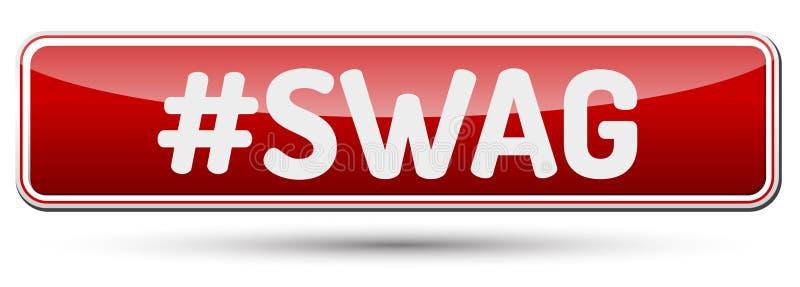 SWAG - Botón hermoso abstracto con el texto stock de ilustración
