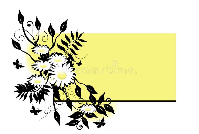 Swag de la margarita sobre amarillo stock de ilustración
