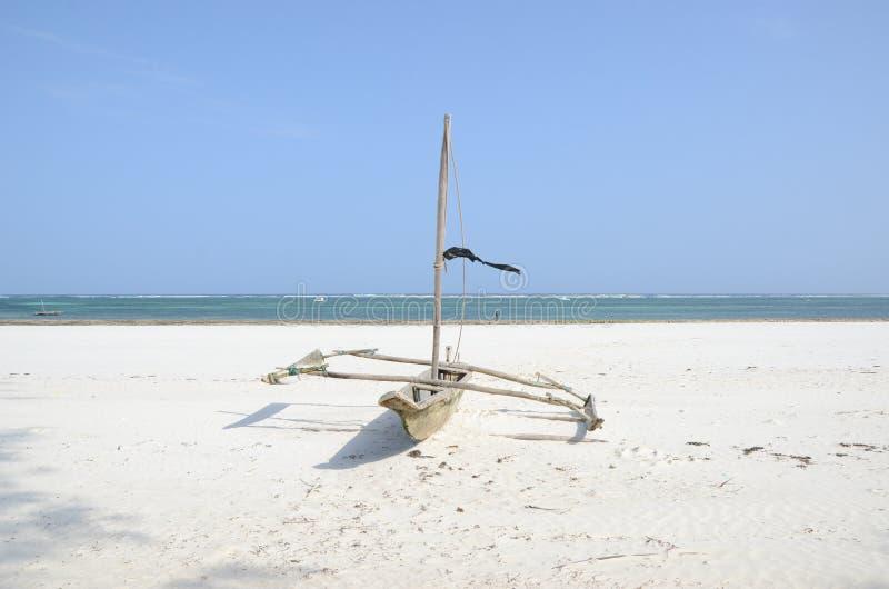 Swahili fishing boat royalty free stock photo