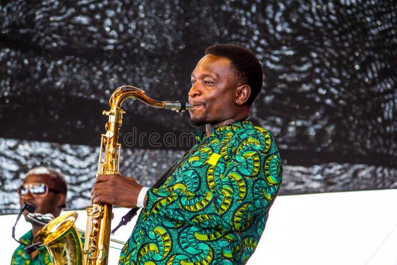 Swahili Jazz Band royalty-vrije stock afbeelding