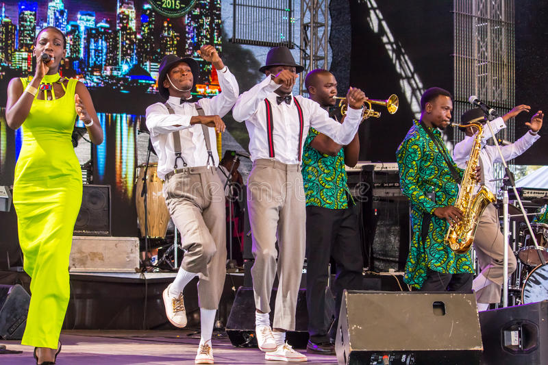 Swahili Jazz Band fotografia stock libera da diritti