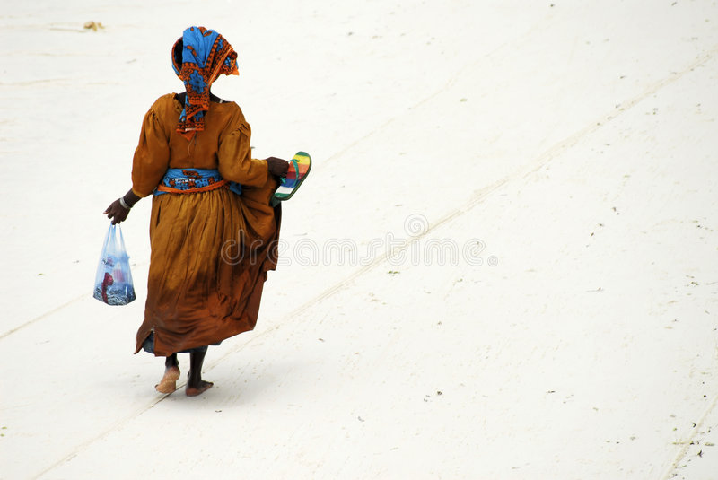 Swahili lady on Zanzibar Island royalty free stock photo
