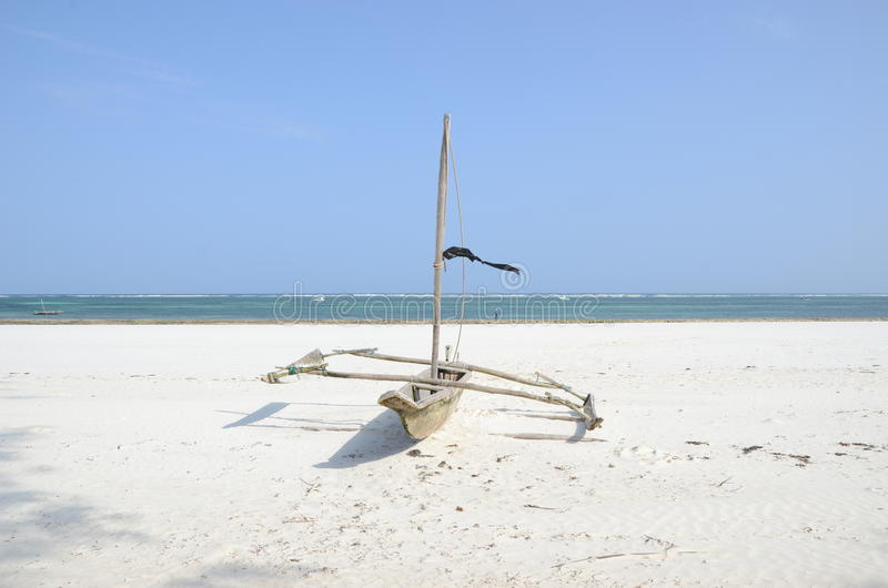 Swahili vissersboot royalty-vrije stock foto