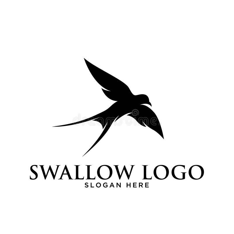 swallow bird icon silhouette simple minimalist modern logo design template stock vector illustration of modern continuous 173074222 swallow bird icon silhouette simple