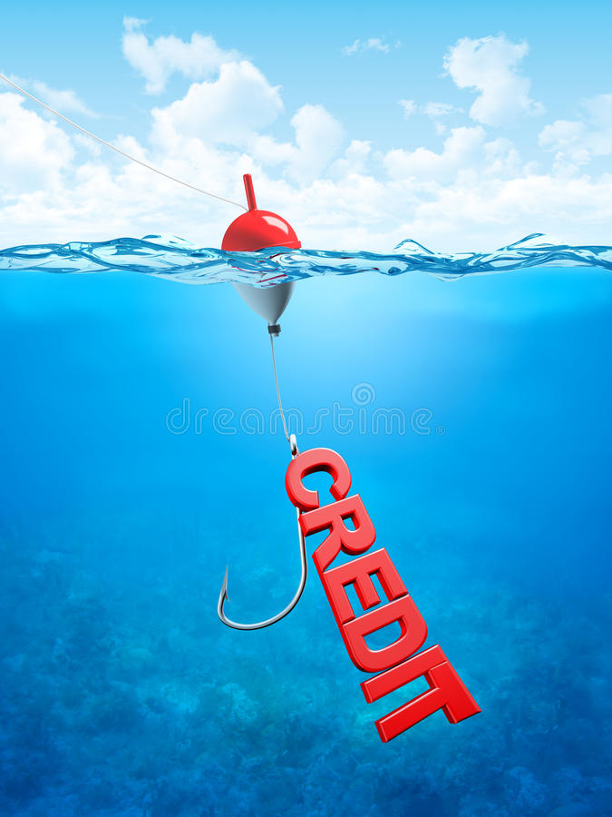 Swallow credit bait stock illustration