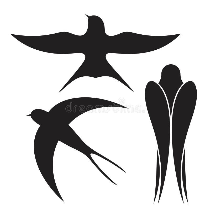 swallow Estratto illustrazione vettoriale