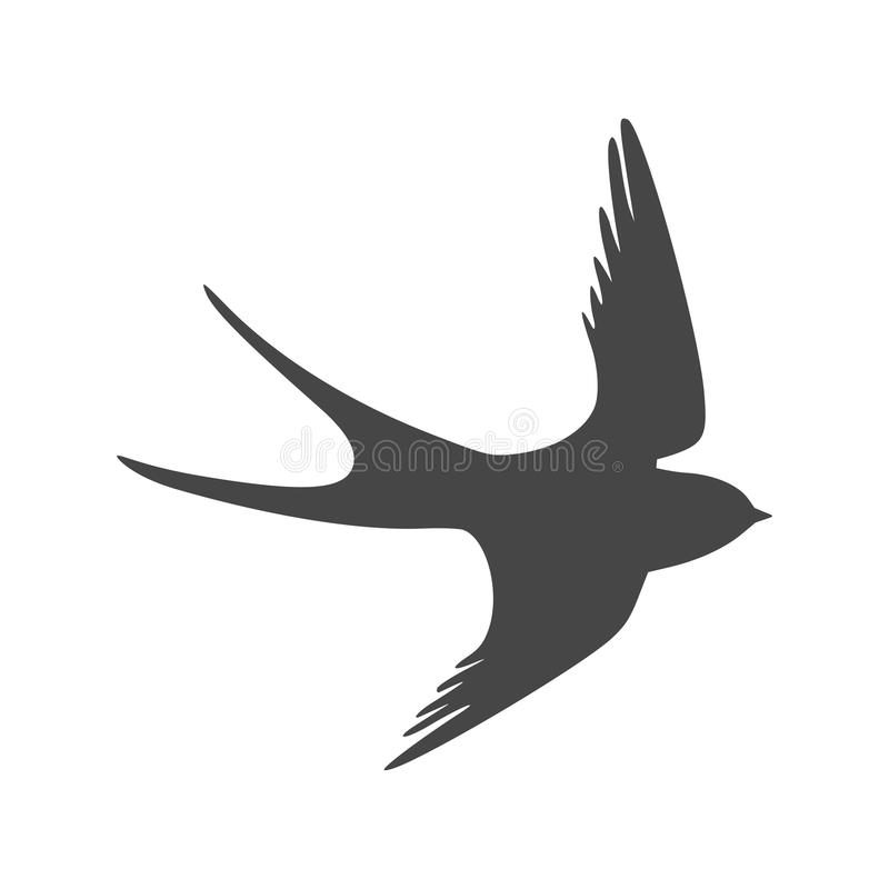 Swallow icon, Swallow logo. Simple vector illustration on white background royalty free illustration