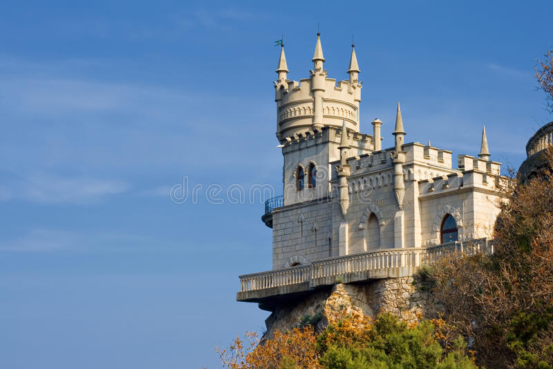 Swallow's het kasteel van het Nest royalty-vrije stock afbeelding