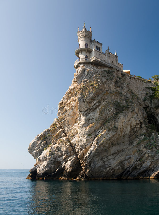Download Swallow's Nest Castle stock image. Image of nest, clear - 8341515