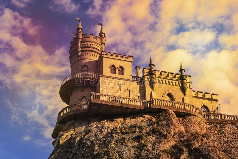 Swallow`s Nest castle on the rock royalty free stock photos
