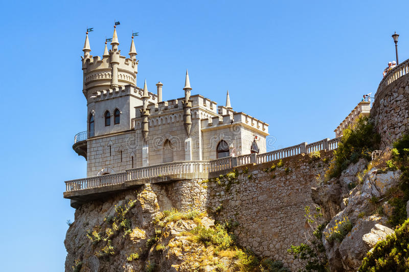 The swallow's nest castle, the symbol of the Crimea Peninsula, Black sea royalty free stock photography