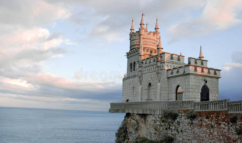 Swallow's nest close view, Ukraine royalty free stock images