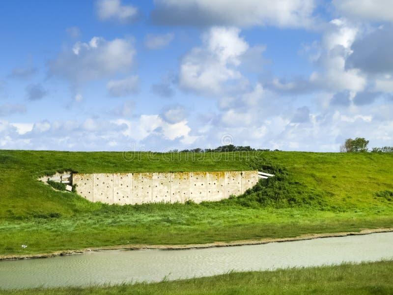Swallow wall at Texel stock photos