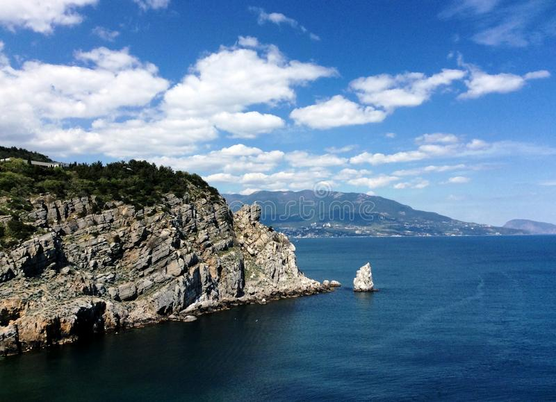 Swallows nest in the Yalta stock photography