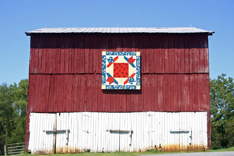 Swallows In The Window Quilt Barn Stock Photo Image Of