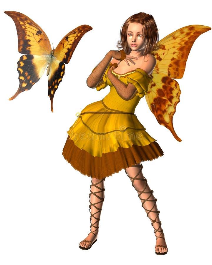 swallowtail de fée de 3 guindineaux illustration de vecteur