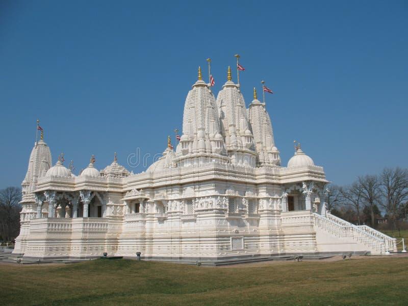 Swami Narayan Tempel stockfotos