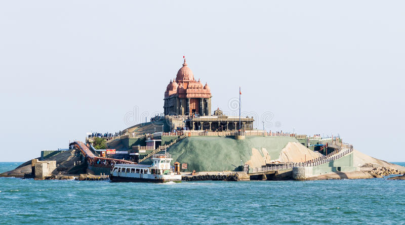 Swami Vivekananda Rock Memorial in Vavathurai, Kanyakumari stockbild