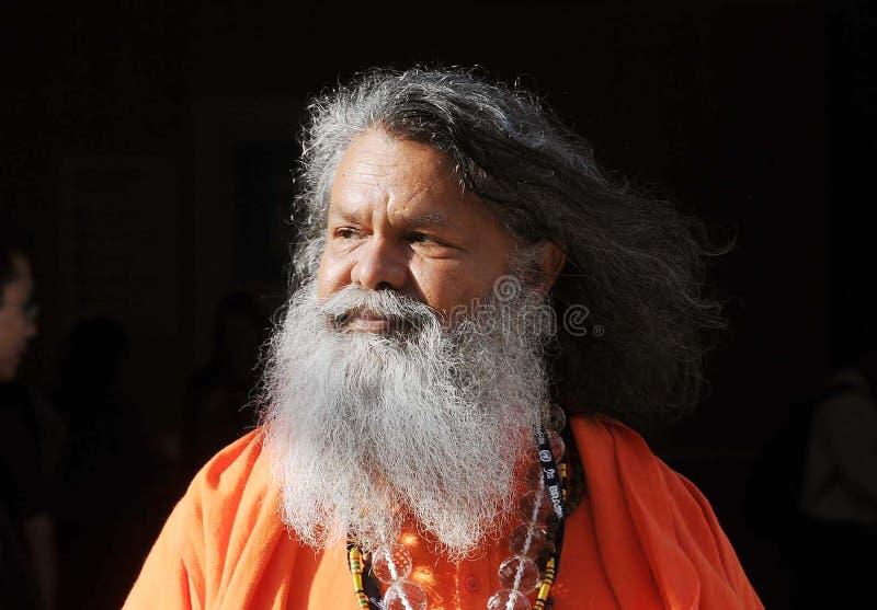 Swamiji Maheshwarananda stockfoto