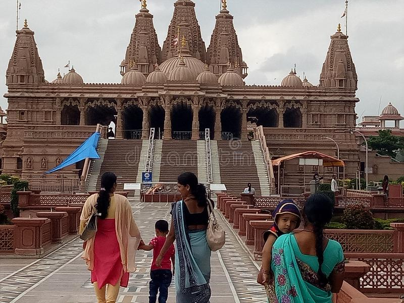 Swaminarayan świątynia obrazy royalty free
