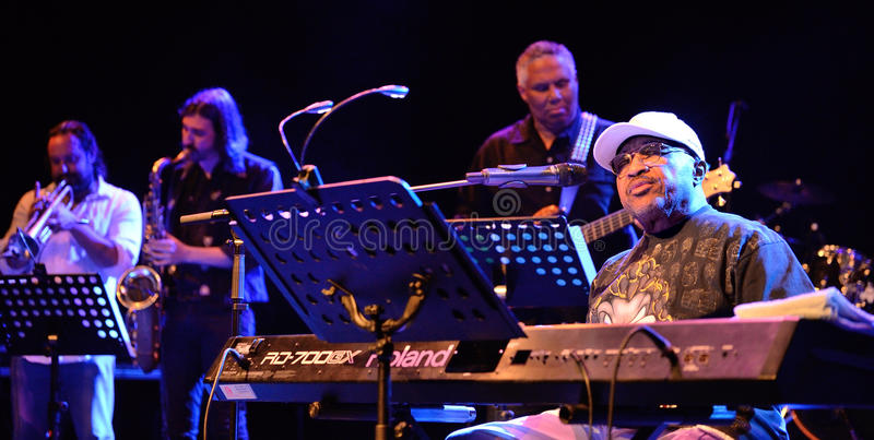 Swamp Dogg, American soul music band, performance at Barts stage royalty free stock photo