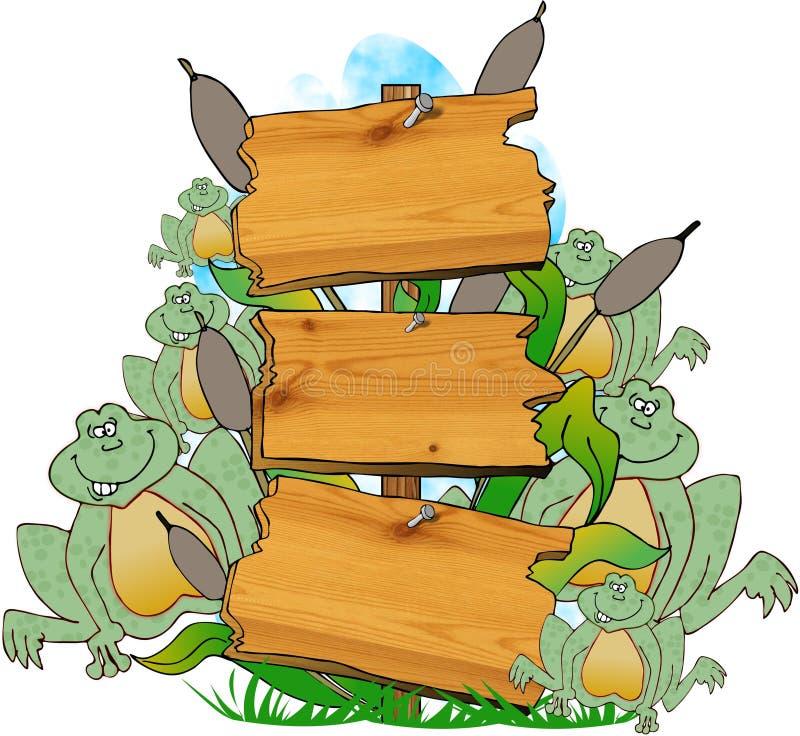 swamp för tecken ii stock illustrationer