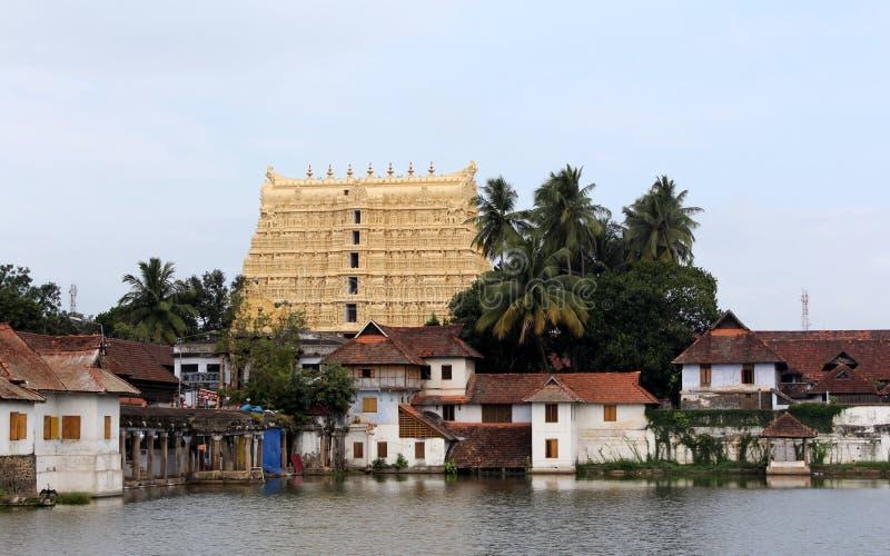 swamy tempel för padmanabhasree fotografering för bildbyråer