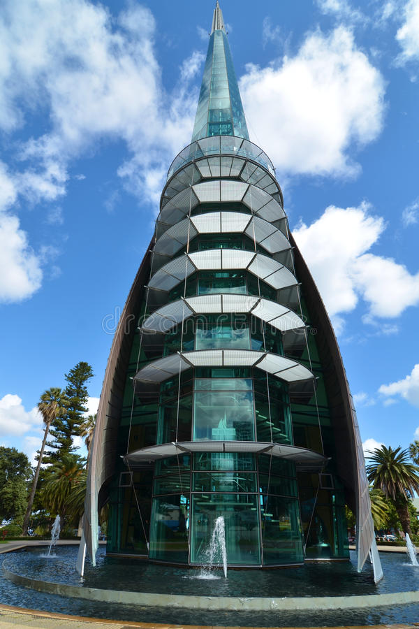 Swan Bell Tower, Perth, Western Australia. A wide angle shot of the Swan Bell Tower in Perth, Western Australia stock image