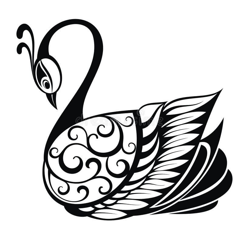 Free Swan Bird Silhouette Royalty Free Stock Photos - 43447768